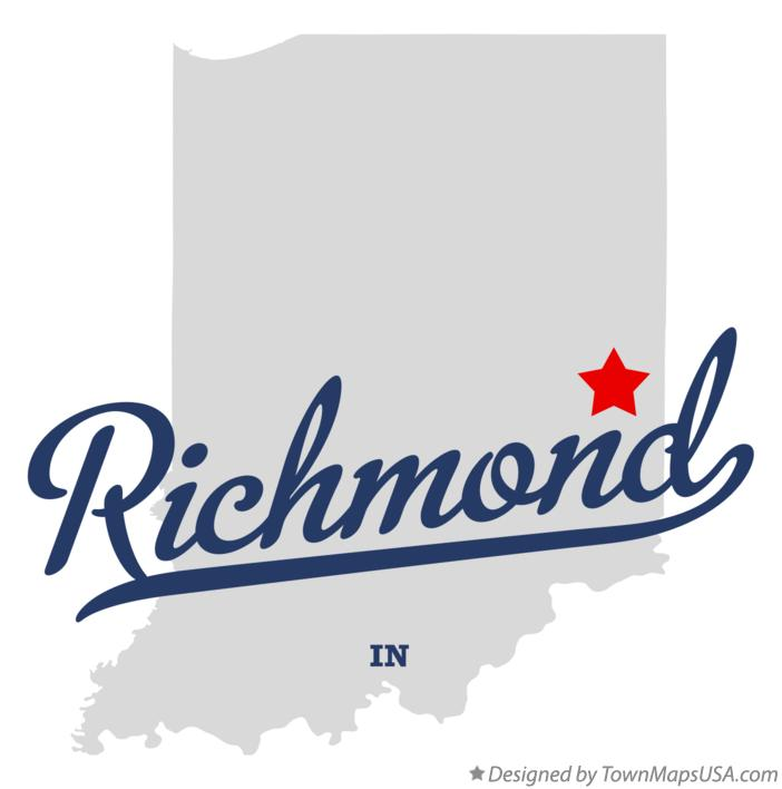 Map of Richmond Indiana IN