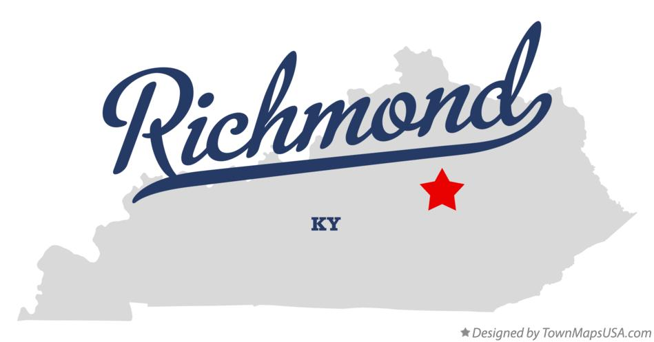 Map of Richmond Kentucky KY
