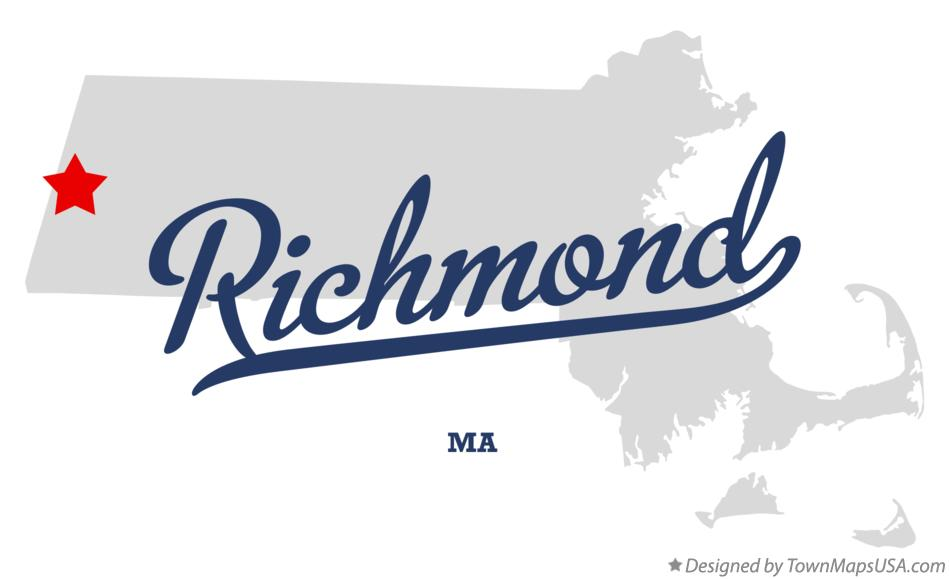 Map of Richmond Massachusetts MA