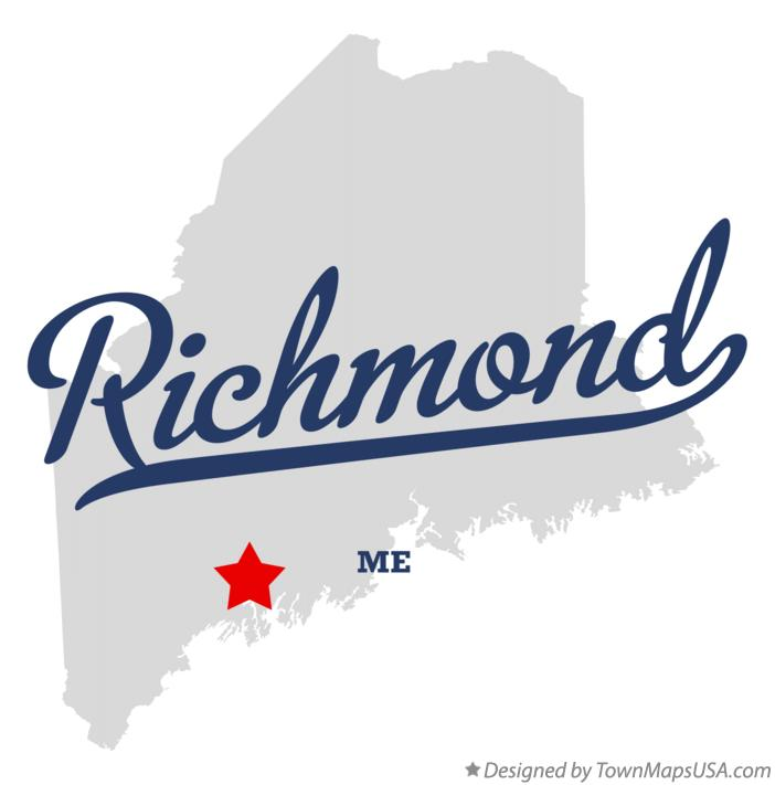 Map of Richmond Maine ME