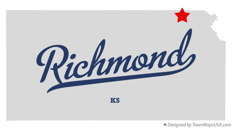 Map of Richmond Kansas KS