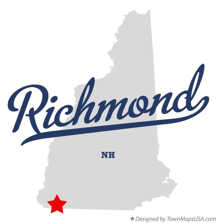 Map of Richmond New Hampshire NH