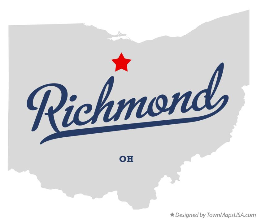 Map of Richmond Ohio OH