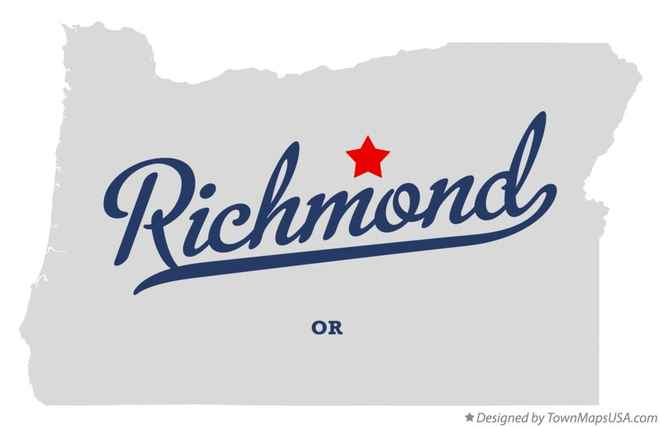 Map of Richmond Oregon OR