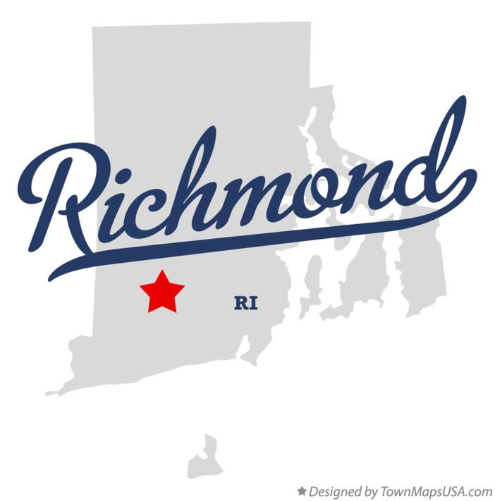 Map of Richmond Rhode Island RI