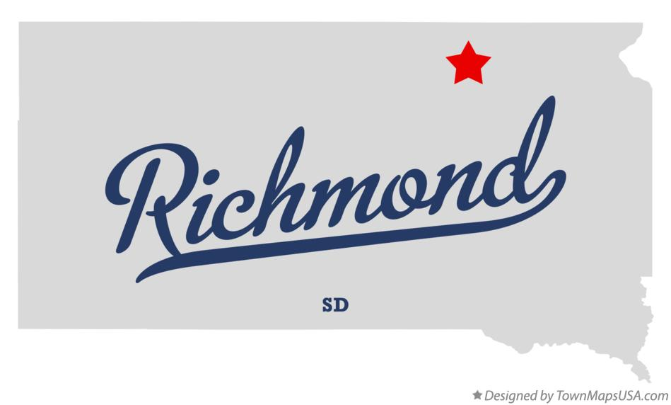 Map of Richmond South Dakota SD