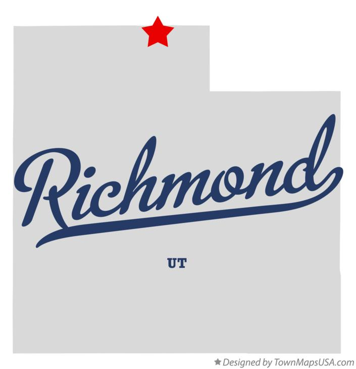 Map of Richmond Utah UT