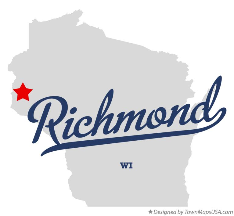Map of Richmond Wisconsin WI