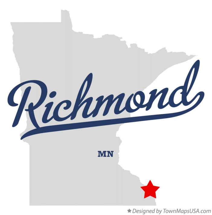 Map of Richmond Minnesota MN