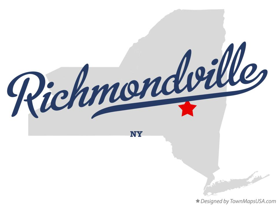 Map of Richmondville New York NY