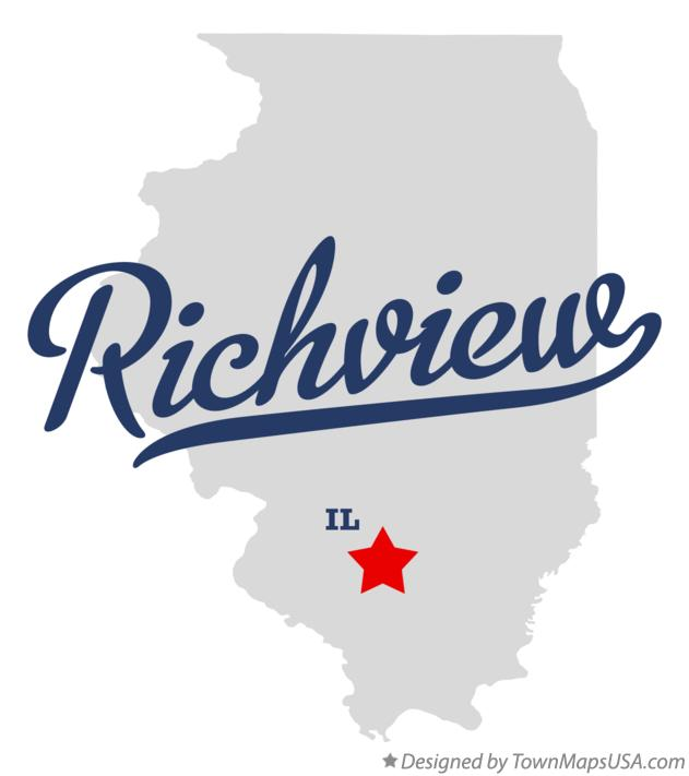 Map of Richview Illinois IL