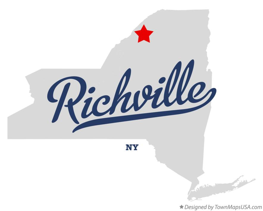 Map of Richville New York NY