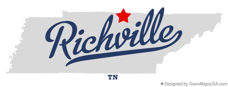 Map of Richville Tennessee TN