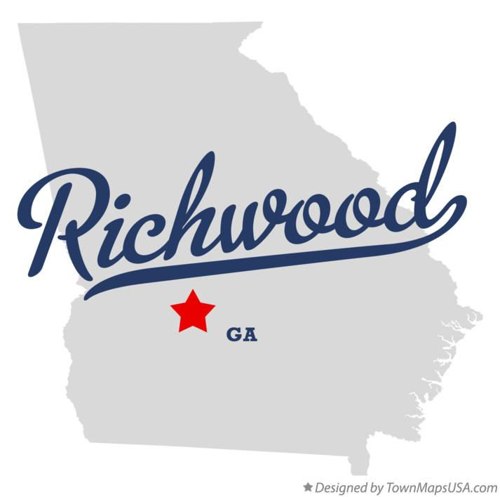 Map of Richwood Georgia GA