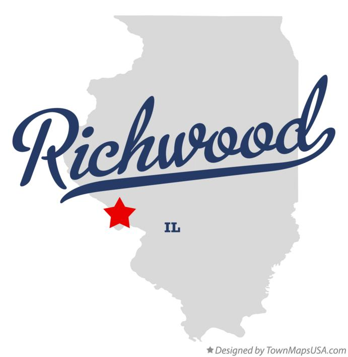 Map of Richwood Illinois IL
