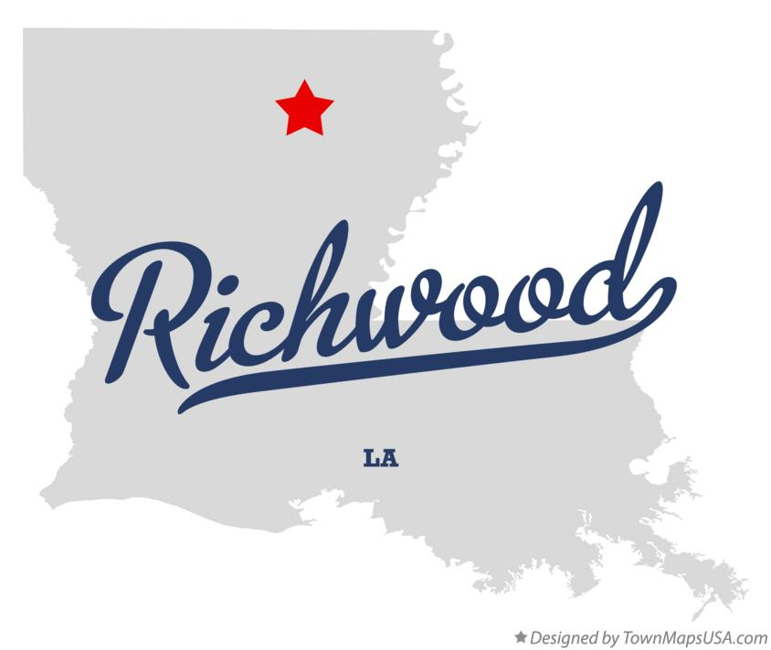 Map of Richwood Louisiana LA