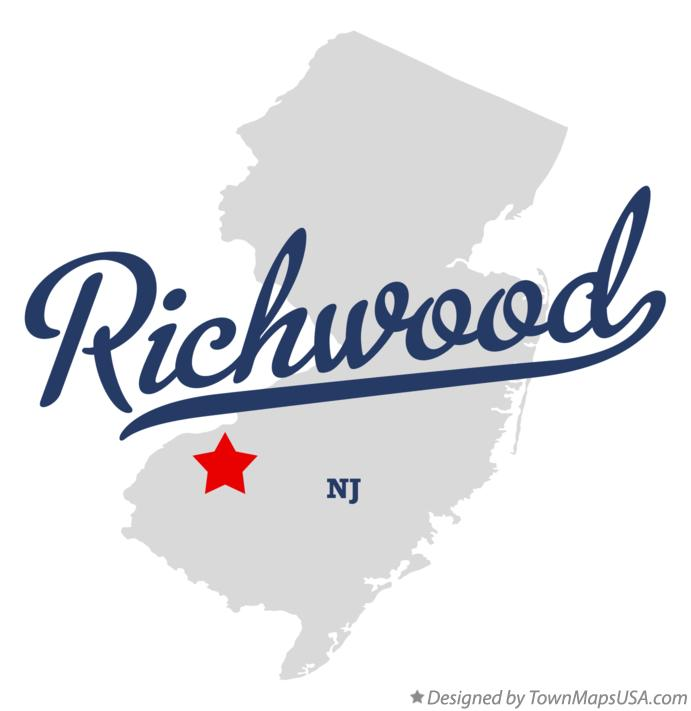 Map of Richwood New Jersey NJ