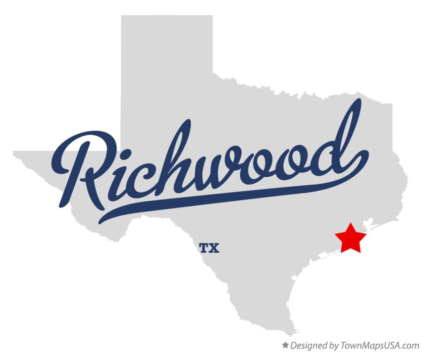 Map of Richwood Texas TX