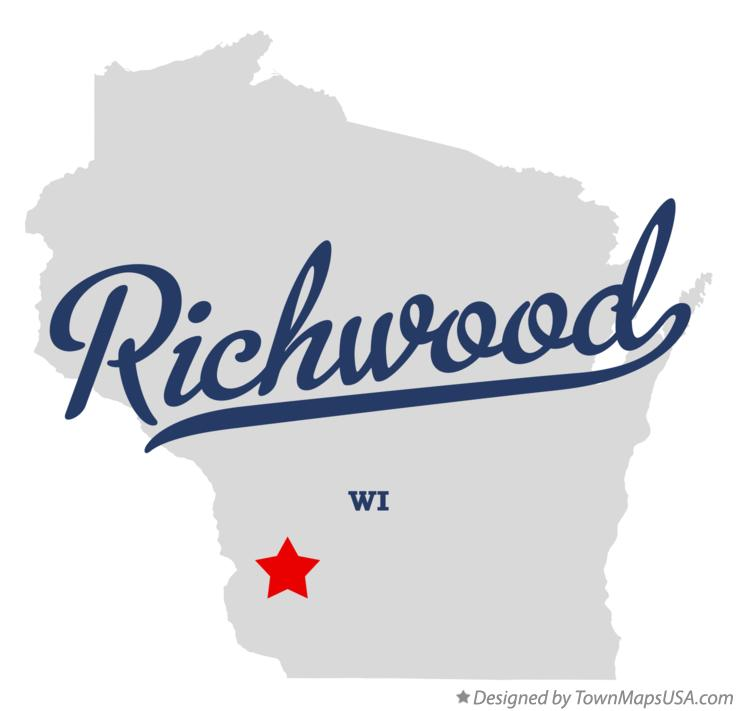 Map of Richwood Wisconsin WI