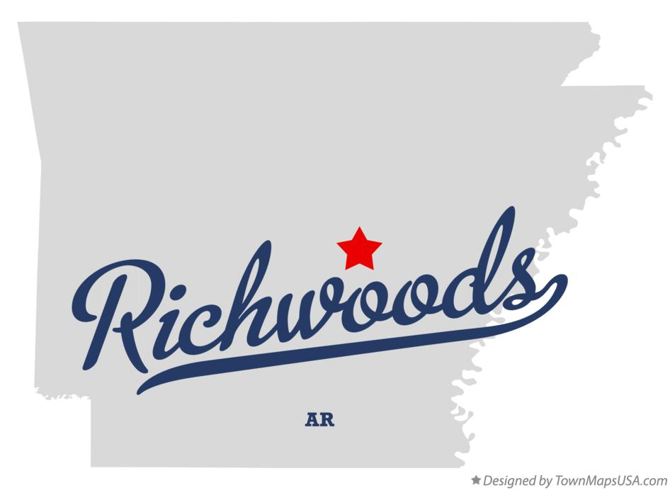 Map of Richwoods Arkansas AR