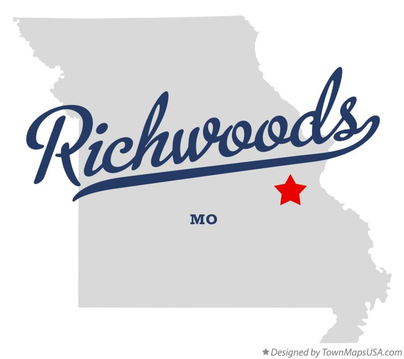 Map of Richwoods Missouri MO