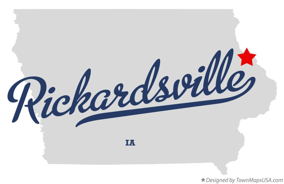 Map of Rickardsville Iowa IA