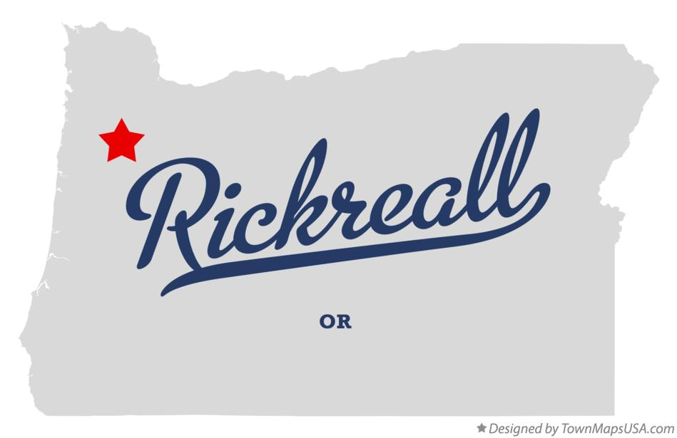 Map of Rickreall Oregon OR