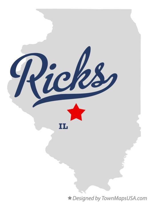 Map of Ricks Illinois IL
