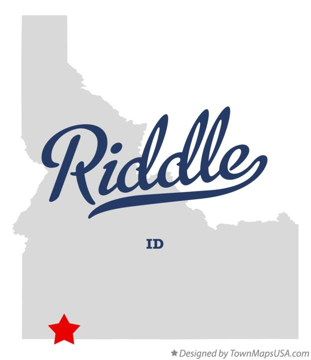 Map of Riddle Idaho ID
