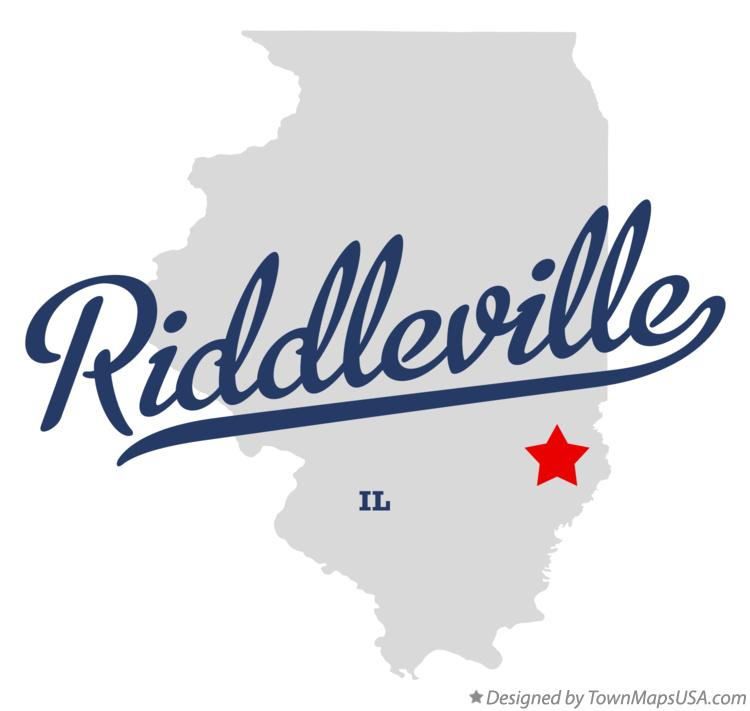 Map of Riddleville Illinois IL