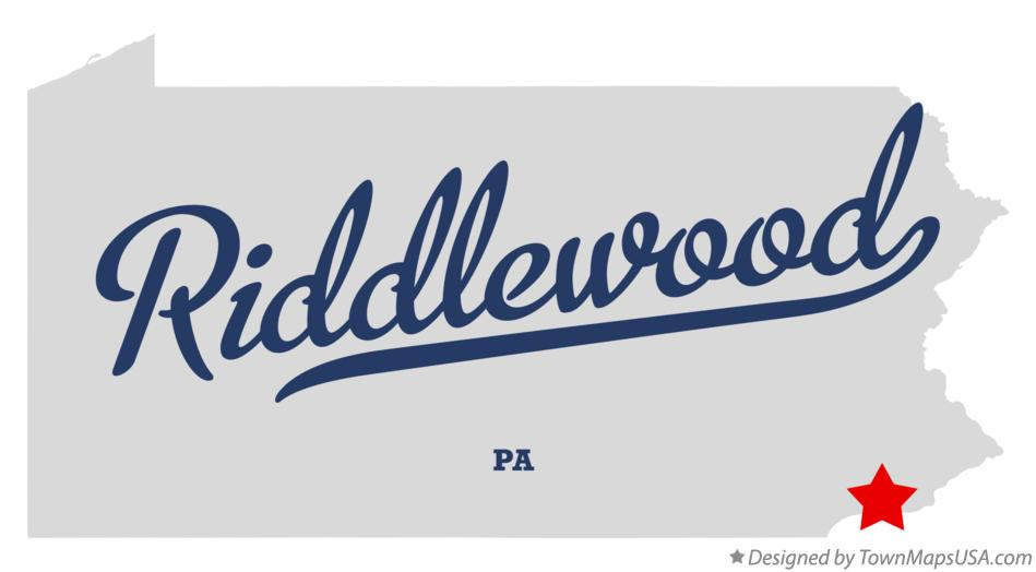 Map of Riddlewood Pennsylvania PA