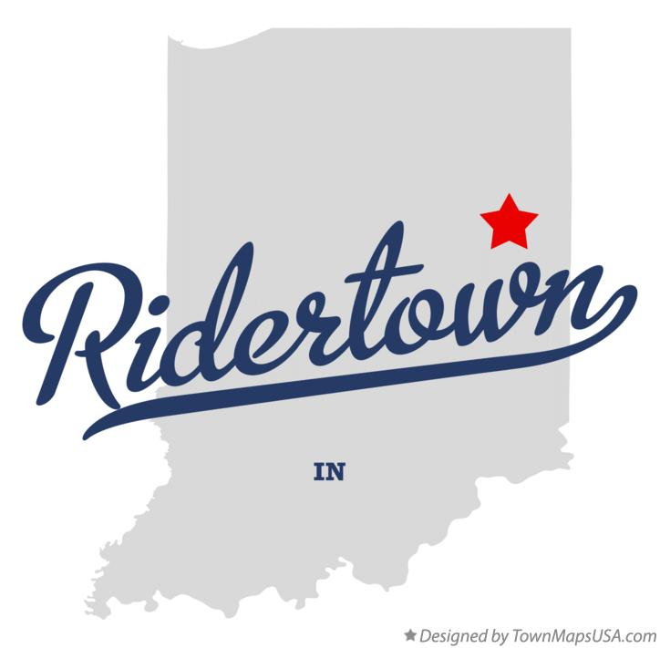 Map of Ridertown Indiana IN