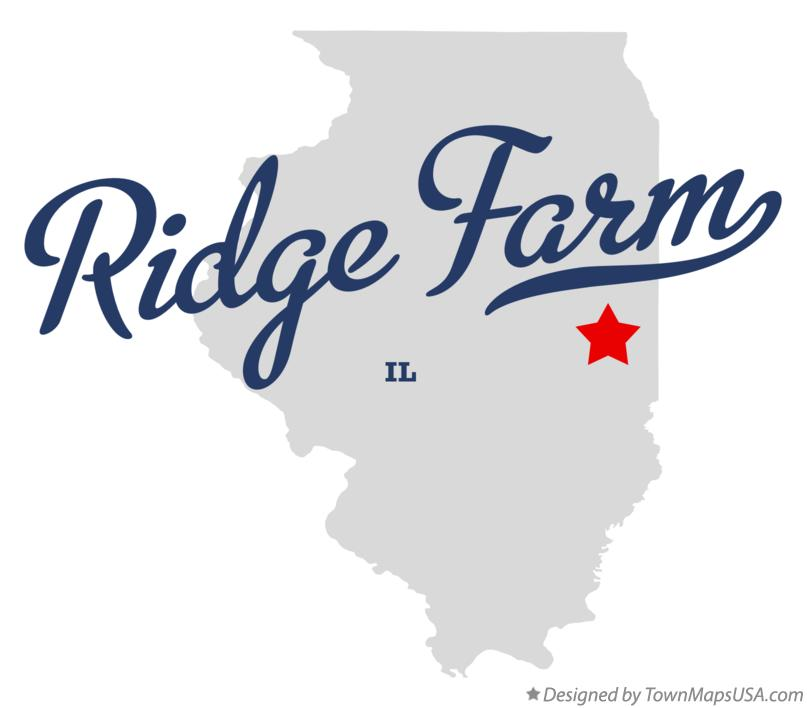 Map of Ridge Farm Illinois IL