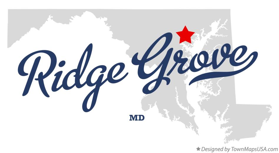 Map of Ridge Grove Maryland MD