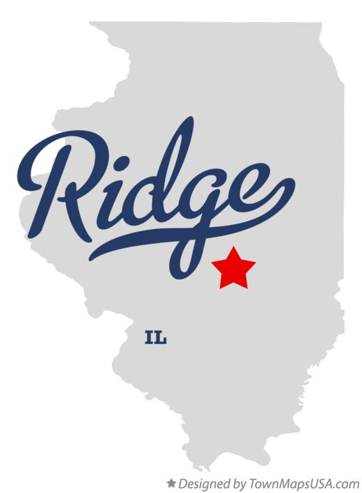Map of Ridge Illinois IL