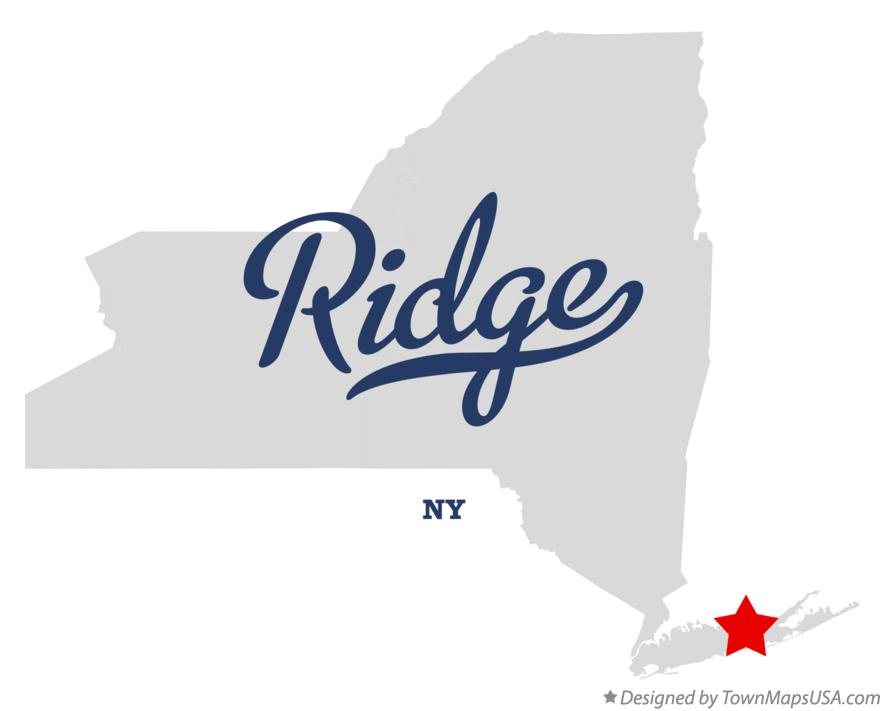 Map of Ridge New York NY