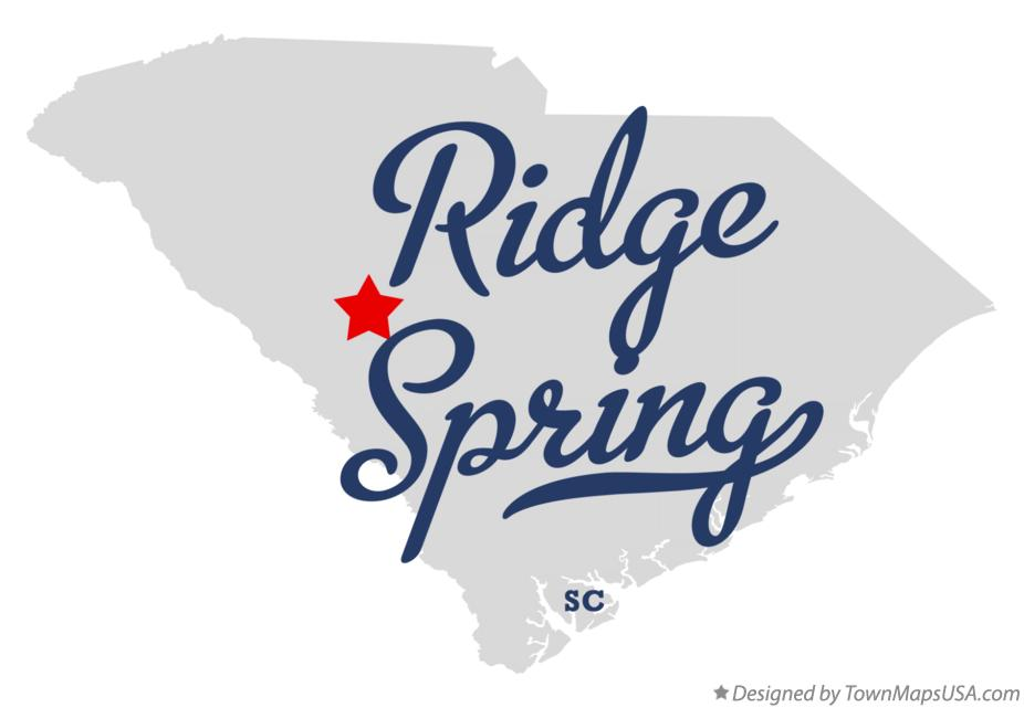Ridge Springs sc Map Map of Ridge Spring South