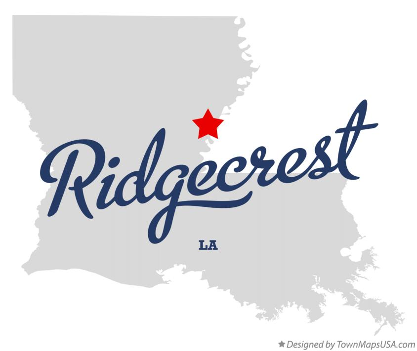 Map of Ridgecrest Louisiana LA