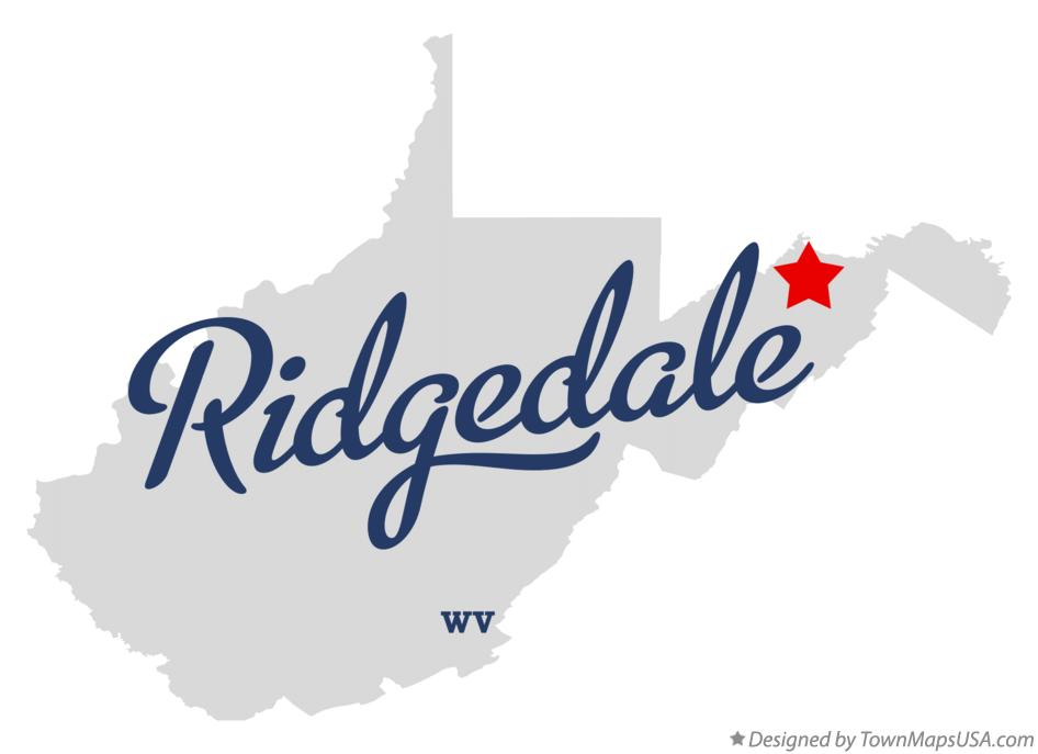 Map of Ridgedale West Virginia WV