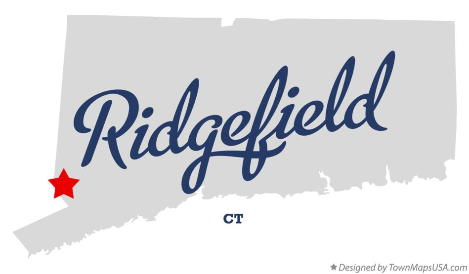 Map of Ridgefield Connecticut CT
