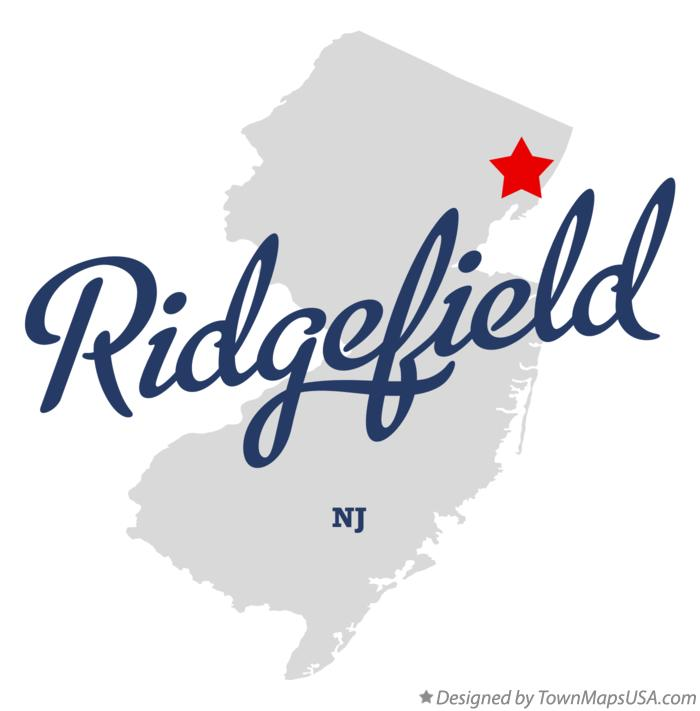 Map of Ridgefield New Jersey NJ