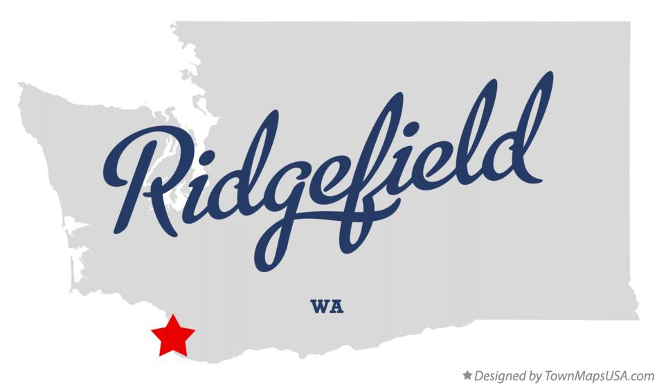 Map of Ridgefield Washington WA