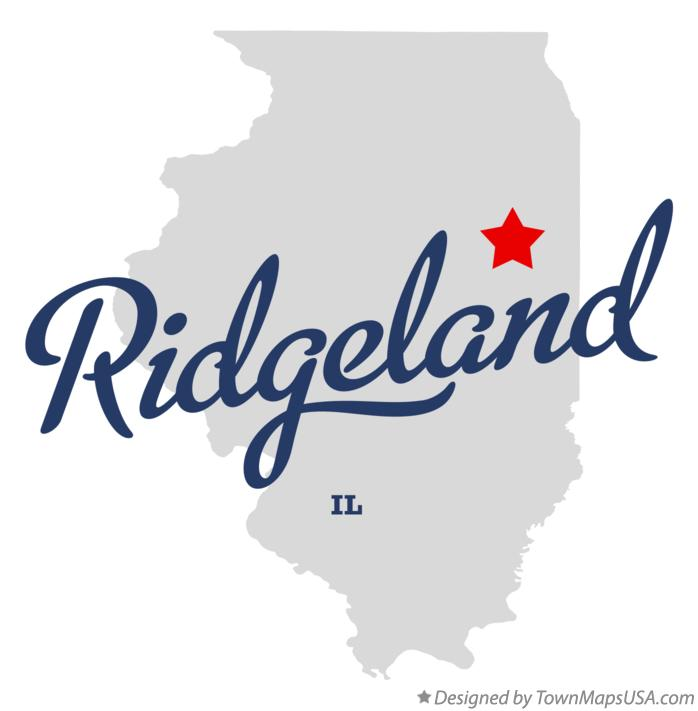 Map of Ridgeland Illinois IL