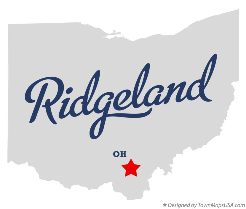Map of Ridgeland Ohio OH