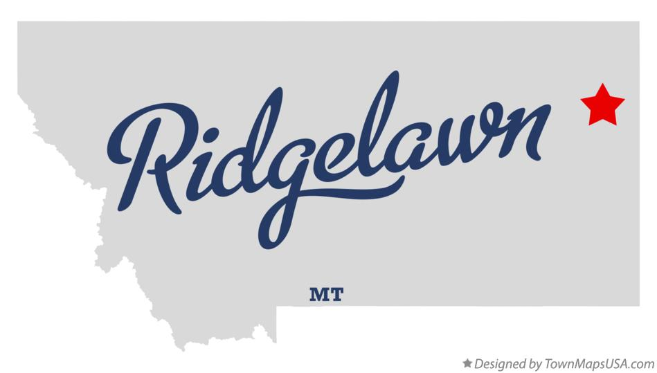 Map of Ridgelawn Montana MT