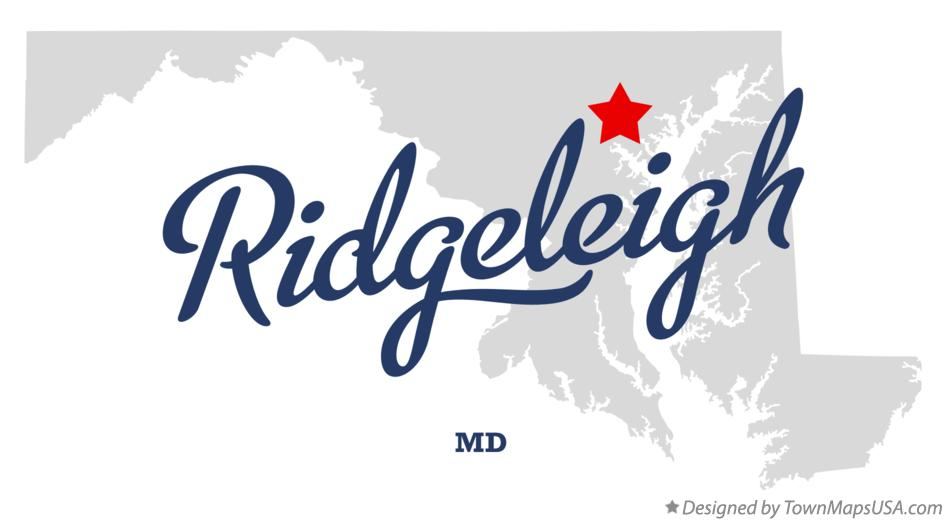 Map of Ridgeleigh Maryland MD