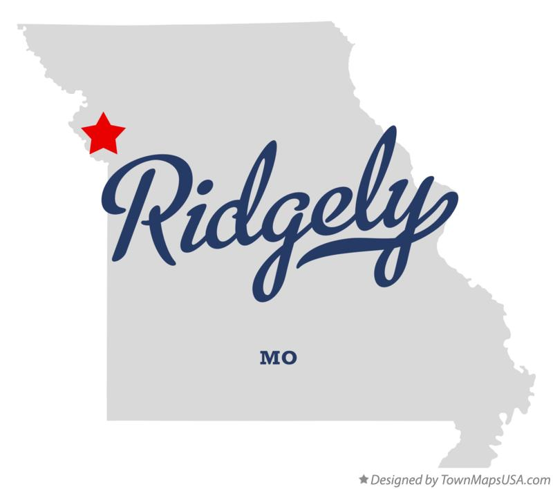 Map of Ridgely Missouri MO