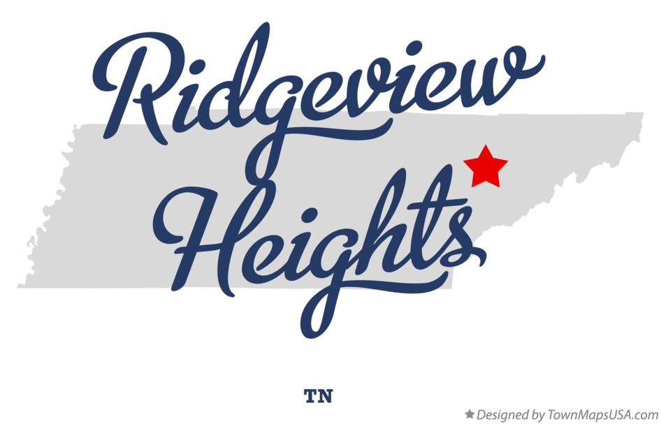 Map of Ridgeview Heights Tennessee TN