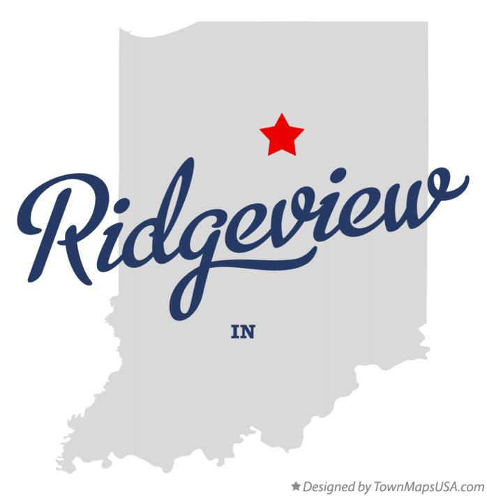 Map of Ridgeview Indiana IN