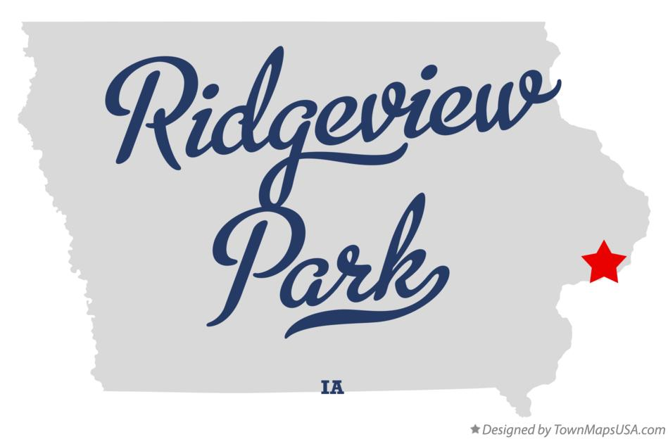 Map of Ridgeview Park Iowa IA